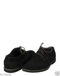 Calvin Klein Faxon Suede Black Wingtip Lace Up Oxford Multisize As126