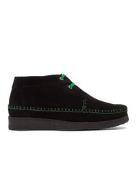 Comme des Garcons Homme Deux Black And Green Padmore And Edition Willow Boots