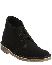 Clarks desert boot black suede boots medium 128129