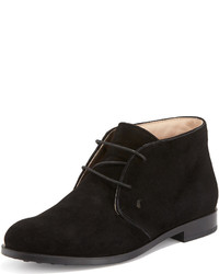 Tod's Flat Desert Ankle Bootie Black