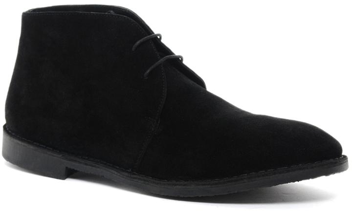 Creative Home  Footwear  Black Suede Desert Boots