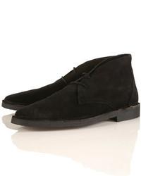 Topman Karakum Black Desert Boots, $96