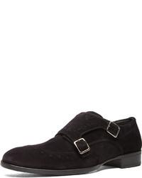 Alexander McQueen Double Buckle Monk Shoes In Black