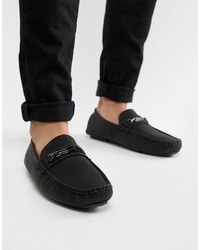 Truffle Collection Metal Bar Driver Shoe In Black
