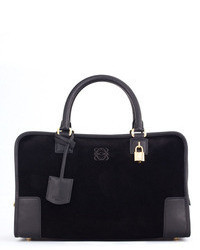 Loewe Amazona Suede Leather Bag Black