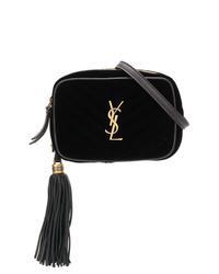 Saint Laurent Black Front Logo Belt Bag