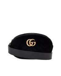 Gucci Black Marmont Velvet Belt Bag