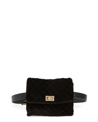 Mali + Lili Nikki Quilted Velvet Belt Bag
