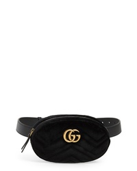 Gucci Small Gg Marmont 20 Velvet Belt Bag