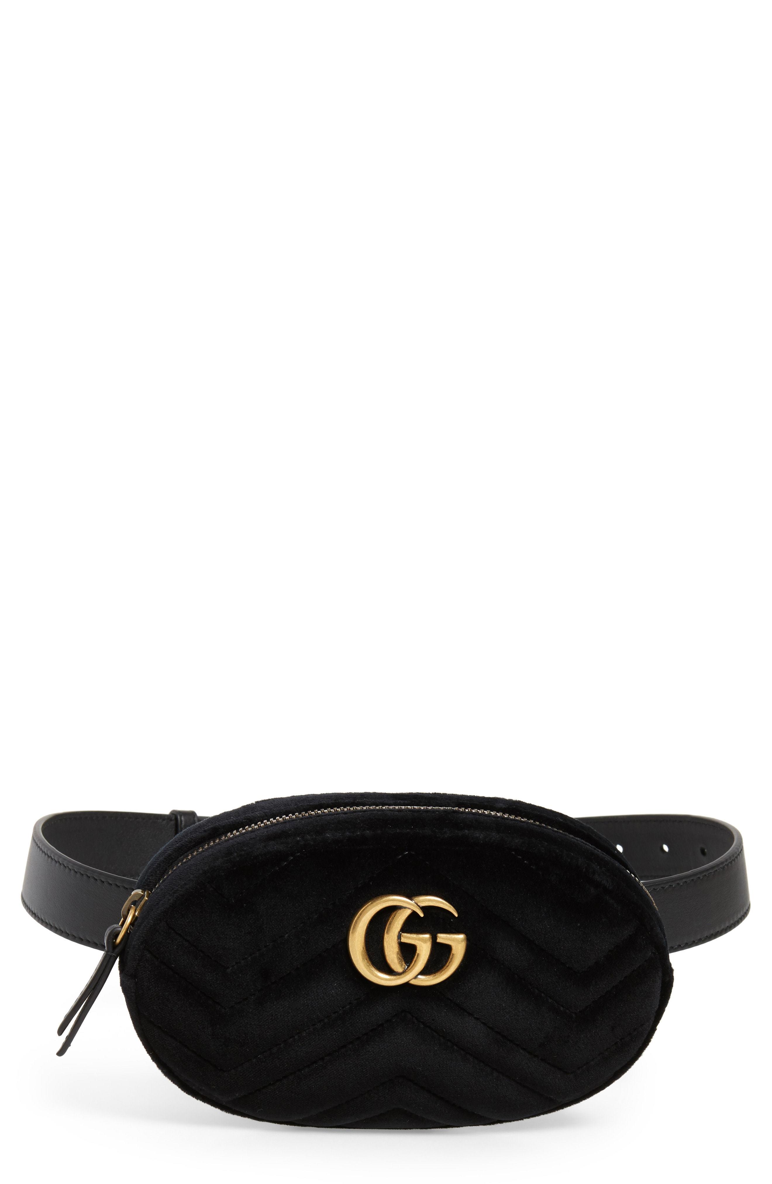 be064af77d Small Gg Marmont 20 Velvet Belt Bag