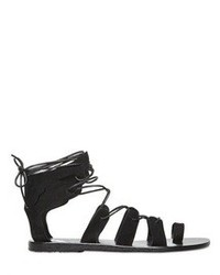 Black Suede Gladiator Sandals