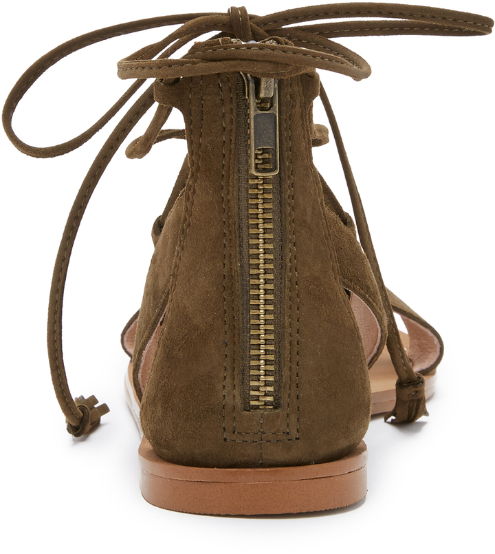 7541b04eb2ae Madewell Bridget Lace Up Gladiator Sandals