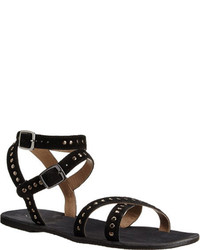 Rebels Char Gladiator Inspired Sandal Black Suede Sandals