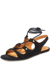 Chloe lace up slingback gladiator sandal black medium 647857