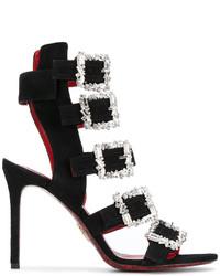 Cesare Paciotti Crystal Gladiator Sandals