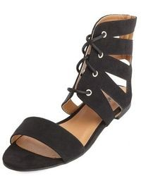 Charlotte Russe Cut Out Ankle Cuff Lace Up Sandals