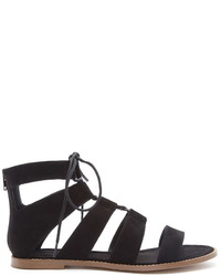 Women s Black Suede Gladiator Sandals by Forever 21  5b5d8d9eabcc
