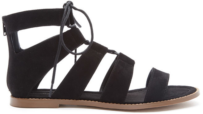 4e27d78570ce ... Gladiator Sandals Forever 21 Faux Suede Lace Up Sandals ...