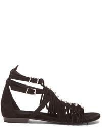 Barbara Bui Fringe Gladiator Suede Sandals