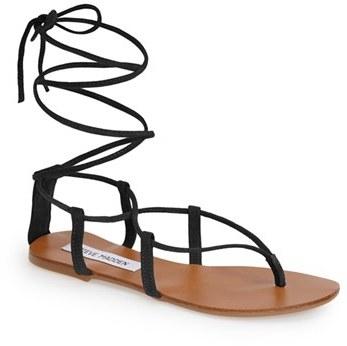 ca2ea93722d14 ... Black Suede Gladiator Sandals Steve Madden Werkit Gladiator Sandal ...
