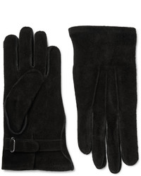 Black Suede Gloves