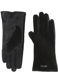 Calvin Klein Perforated Suede Leather Gloves