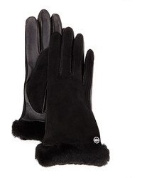UGG Classic Fur Trim Suede Smart Gloves