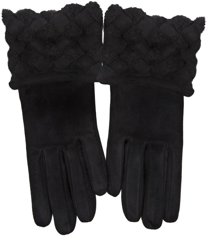 Bottega Veneta Intrecciato Detail Gloves