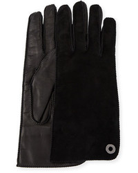Jacqueline suede and leather gloves medium 4400754