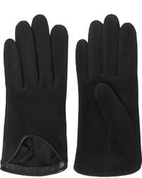 Rag & Bone Moto Leather Trimmed Uede Glove Black