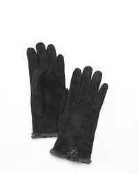 Isotoner Suede Microluxe Faux Fur Gloves