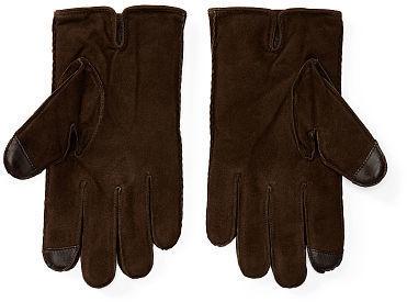 9ca7b0e244 Polo Ralph Lauren Suede Touch Screen Gloves