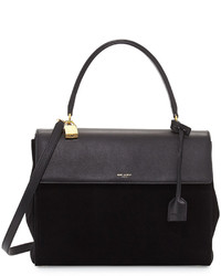 Black Suede Handbag