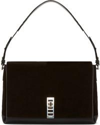 Black suede elliot shoulder bag medium 120765