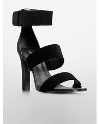 Calvin Klein Asa Suede Leather High Heel Sandal