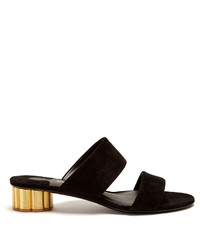 Salvatore Ferragamo Belluno Column Heel Suede Sandals