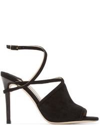 Jimmy Choo Black Flora Heeled Sandals