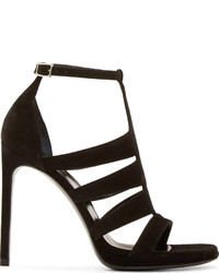 Saint Laurent Black Suede Jane Heels