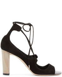 Jimmy Choo Black Vernie Heeled Sandals