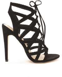 Forever 21 Braided Faux Suede Heels