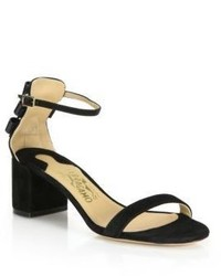 Salvatore Ferragamo By Edgardo Osorio Connie Suede Mid Heel Sandals