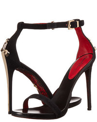 Cesare Paciotti Suede Ankle Strap Heeled Sandal