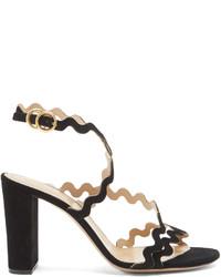 Chloé Chlo Melrose Block Heel Suede Sandals