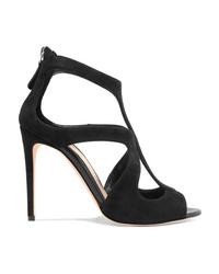 Alexander McQueen Cutout Suede Sandals