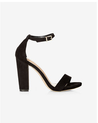 Express Faux Suede Thick Heeled Sandal