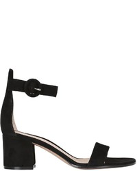 Gianvito Rossi 60mm Portofino Block Heel Suede Sandals