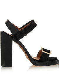 Givenchy Buckled Sandal In Black Suede It405