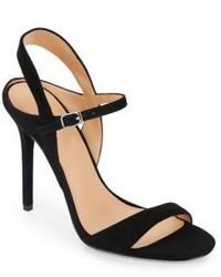 Halston Suede High Heel Sandals