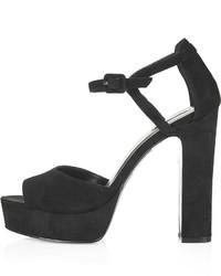 Topshop Lena Suede Platform Sandals