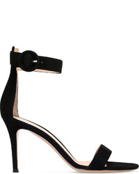 Gianvito Rossi Louis Suede Heeled Sandals